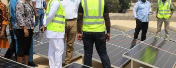 Energy Minister Inspects 912kWp Solar Power under Construction At Jubilee House